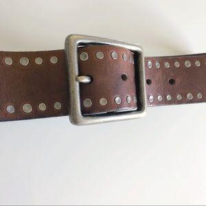 Banana Republic studded leather belt